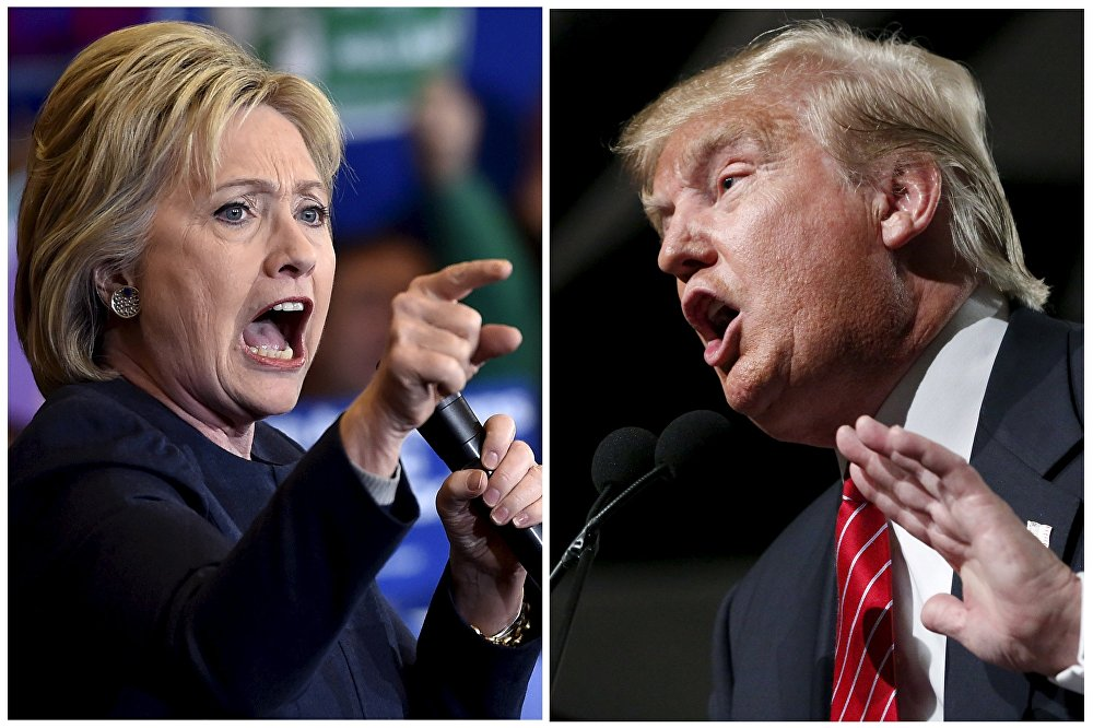 Democratic presidential candidate Hillary Clinton (L) and Republican presidential candidate Donald Trump are seen in a combination of file photos