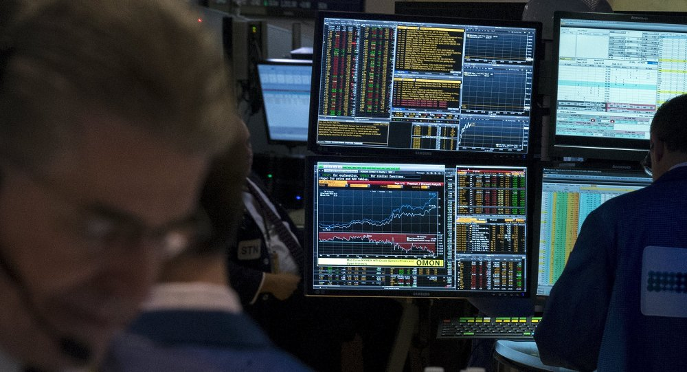 A Bloomberg terminal is seen inside a kiosk on the floor of the New York Stock Exchange April 17, 2015