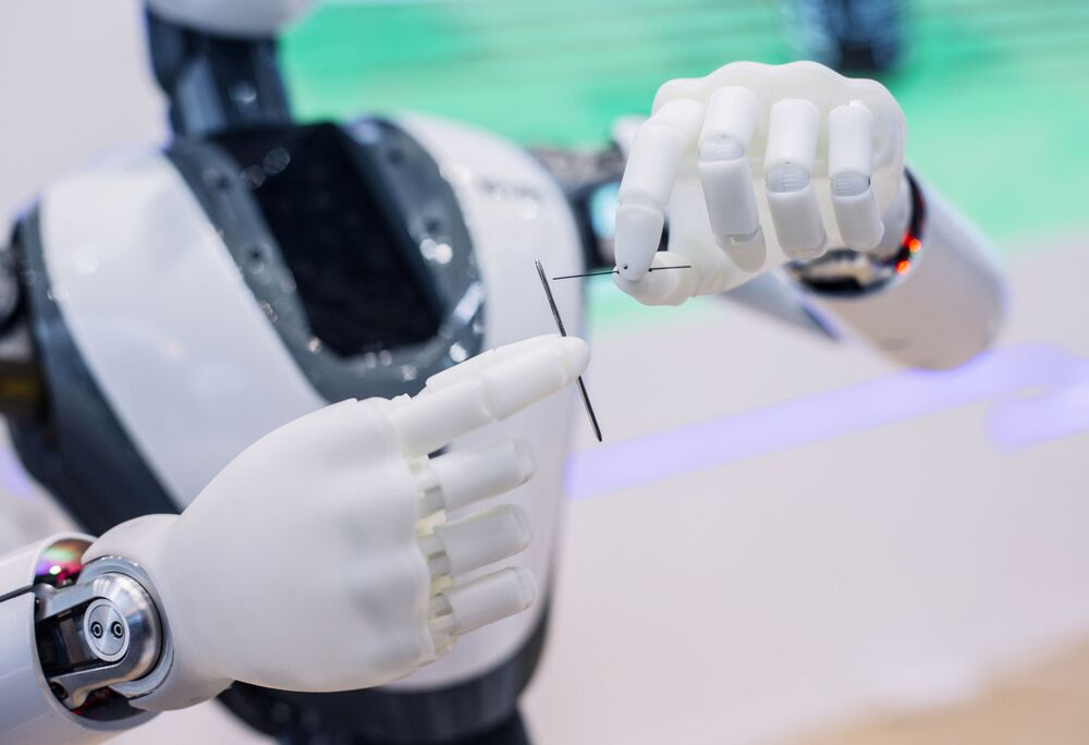 「CloudMinds Technology」社が展示した人間そっくりのロボット